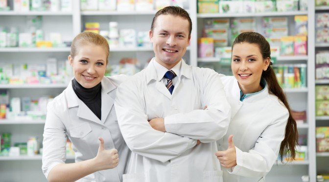 Group of Male and Female Pharmacists